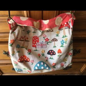 Cath Kidston Mushroom Spots Reversible Handbag